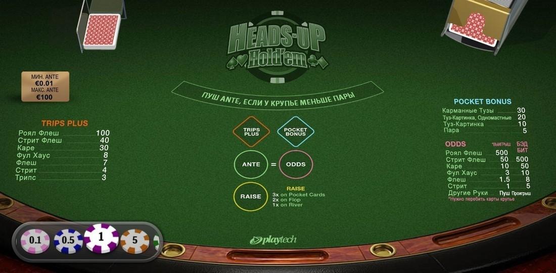 Heads Up Holdem Casino Game